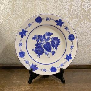 ハンガリー   GRANIT 社 青いペイントの飾り皿