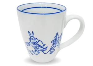 鳥獣戯画マグカップ 青花陶器 sbskmgctjgg-1912
