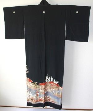 黒留袖006*裄62cm
