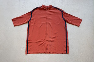 ohta red brown wide shirts (red brown / size:W2) [st-37R]