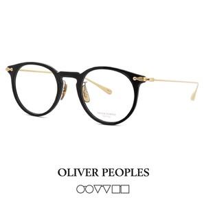日本製  MARETT bk OLIVER PEOPLES メガネ marett ボストン 眼鏡 メンズ レディース 黒縁 フレーム