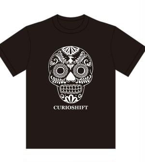 Tシャツ「メキシカンスカル&不死鳥」ブラック