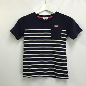 Woood.border T for Jr. navy/white