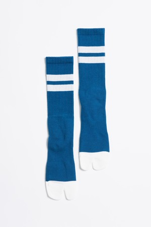 Signature Socks(Sea Blue × White)