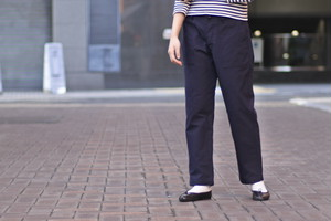 【maillot】military n/c baker pants col.NAVY