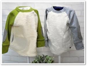 【ラスト1セット】双子ベビー服2枚セット★ボーイズツイン★ボアトレーナー<13AW-bt002r-P>