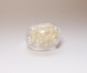 pearl ring [white]