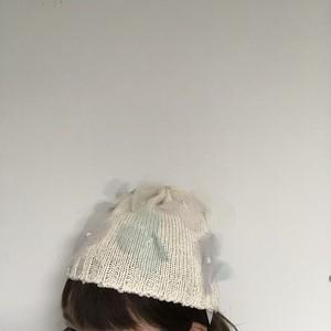 gashima-re Tulleflower Knitcap