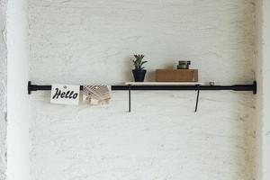 ShelfA SET 01 ブラック 取付寸法75~115cm