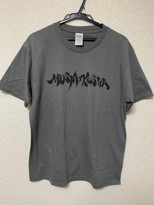 MUSHAxKUSHA 新 Logo T-Shirt 灰色×黒