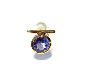 E10-0041a-TN 【K10 Ω tanzanite earring】