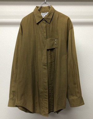 1990s CRAZY PLEATED SHIRT