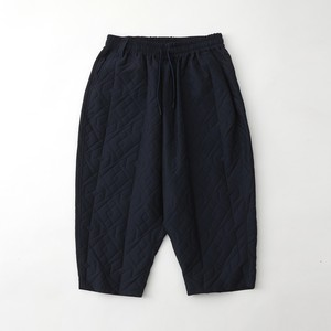 PARQUEST JACQUARD TAPERED SAROUEL PANTS - NAVY
