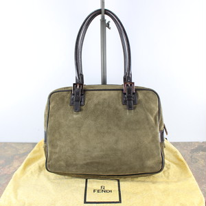 FENDI  LEATHER HAND BAG MADE IN ITALY/フェンディレザーハンドバッグ