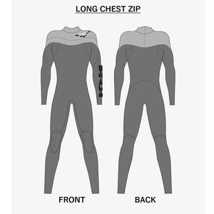【セミオーダー】ウェットスーツ ジャージフル3mm ロングチェストジップ