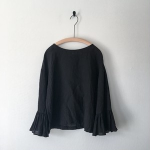 【 miho umezawa】SUN DRY LINEN gather sleeve blouse