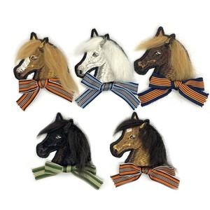 馬の刺繍ワッペン(たてがみ植毛)