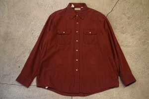 USED 80s L.L.Bean Flannel Shirt -XLarge S0569