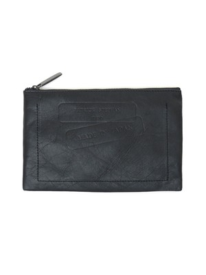 Leather pochette S 'stamp' papier ポーチ 164ABG12