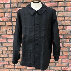 1960s French Work Jacket Super Durable  Black