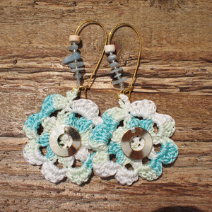 Flower Knit Pierce / Blue