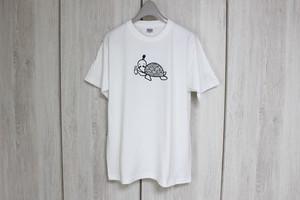 極厚Tシャツ★綿100%★ウミガメ★白L