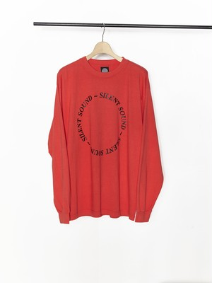 SILENT SOUND L/S Circle Tee Red / Black SSTS066