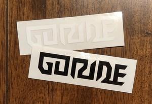 GORIDE logo sticker set B/W