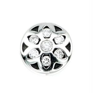 ロゼット #2 ミニ イヤリング 8ミリ w/ ホワイト ダイヤモンド:Good Art HLYWD グッド アート ハリウッド