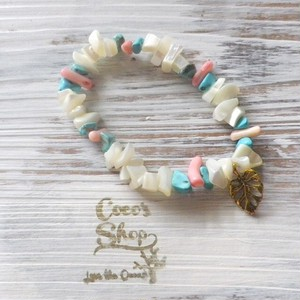 Power Stone Bracelet -Shell&Coral&Turquoise-Ⅱ