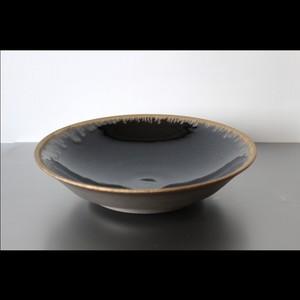 黒と銅の重厚な器 陶芸作家【望月 薫 a.k.a ILL CERAMICS】Bronze Lip Bowl  ブロンズリップボウル 22cm (Large)