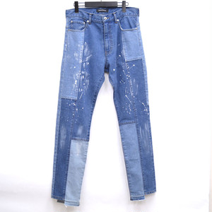 Patchwork Denim Pants Indigo