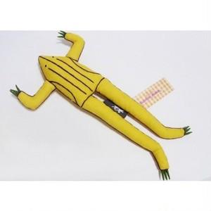 アジアのカエル人形 ラオスイエロー  118FMK20F-y-c1611
