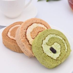 【冷凍便】ロールケーキ3種詰合せ(コーヒーロール・抹茶ロール・紅茶ロール)10個入