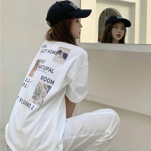 【トップス】シンプル半袖ラウンドネックプルオーバーTシャツ42787381