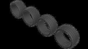 3Dモデルデータ 1/64 タイヤ タイプ2 左右非対称パターン