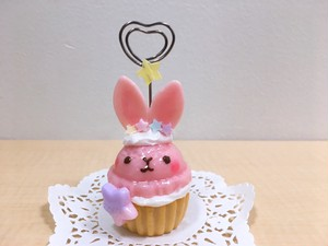 cache cache*「うさアイスカップケーキのカードスタンド」(新宿店)