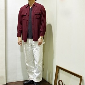 1940-50s Vintage Rayon Shirt / Daily Double / ハリウッド ギャバシャツ