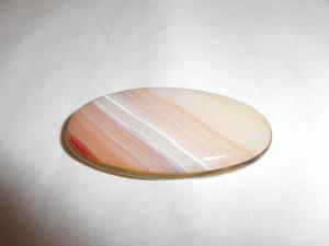 縞メノウ帯留 stripe agate obi sash clip(No10)