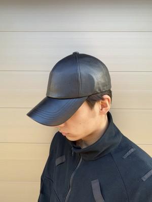 【UNISEX - 1 size】LEATHER CAP / Black