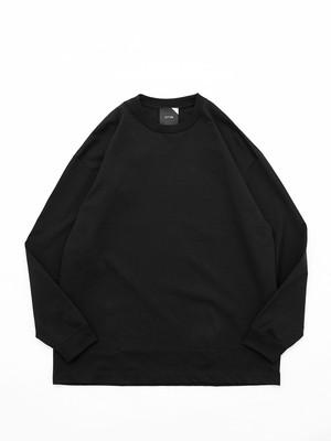 ATON SUVIN AIR SPINNING OVERSIZED LONG SLEEVE T-SHIRT Black KKAGIM0031