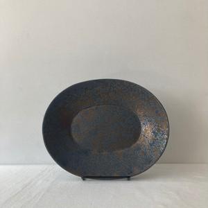 ONE KILN CERAMICS /ASH /  oval bowl