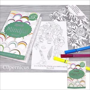 大人のぬり絵/24枚セット/ポストカード メッセージカード  Mindful