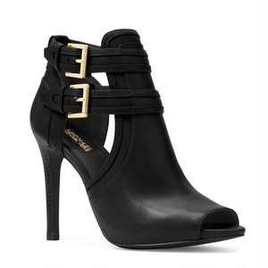 MICHAEL KORS Blaze Peep-Toe Leather Booties