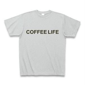 Tシャツ-珈琲ライフ(灰)