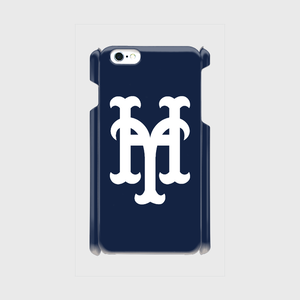 yh Mets iPhone6Plus/6sPlus/7Plus ケース (Navy×White)