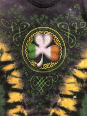 early2000's clover psychedelic tie-dye T's