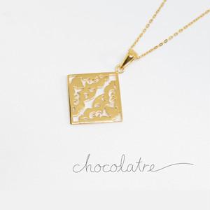 chocolatre「ガトー」ゴールドペンダント