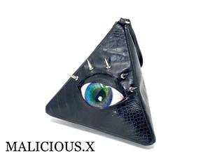 【お試し価格】eye triangle clutchbag / blue marble