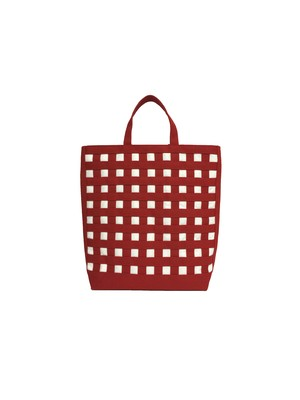 gingham tote ギンガムトート 20 ダークレッド